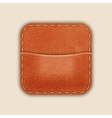 Natural Leather Pocket Or Wallet App Icon Template vector image