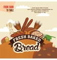 Fresh baked bread from farm to table vector image vector image