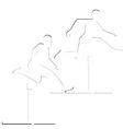 Running hurdles vector image vector image