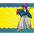 manga samurai vector image vector image