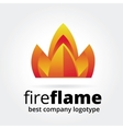 Abstract fire logotype concept isolated on white vector image