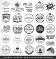 Bakery Coffee Chocolate Labels and Badges vector image
