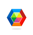 colorful polygon abstract logo vector image