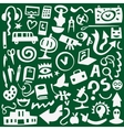 Education - icons set vector image