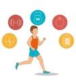 Fitness healthty lifestyle design vector image