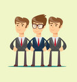 group portrait of a professional business team vector image