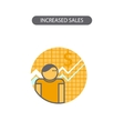 Line icon with flat design elements of business vector image