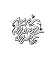 love never ends hand drawn lettering vector image