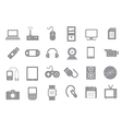 Computer technologies gray icons set vector image vector image