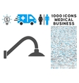 Tap Mixer Icon with 1000 Medical Business vector image