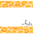 A lot of juicy oranges vector image vector image