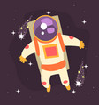 astronaut floating through space vector image