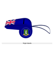 A Beautiful Blue Whistle of Virgin Islands vector image
