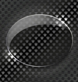 Abstract black background with glass elementframe vector image