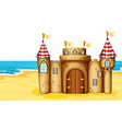 Castle on beach vector image vector image