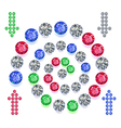 Gems spiral maze game interface set vector image