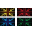 colourful uk flags vector image vector image