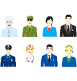 icons of the people vector image