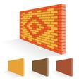 Brick wall set vector image