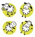 doodle sheep set vector image