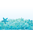 Sea pattern background vector image