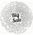 Big sale vintage poster design vector image