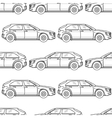 Black and white cars seamless pattern vector image