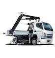 Cartoon Lkw Truck with Crane vector image
