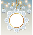 Decorative round Christmas banner vector image