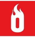 Fire O letter design vector image