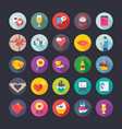 flat icons set of love and valentine vector image