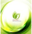Green eco energy background vector image