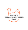 Happy thanksgiving day title logo with text and vector image