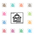 isolated template icon construction vector image