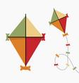 kite icon vintage retro color flat design vector image