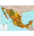mexico map with selectable territories vector image