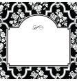 square fancy rose frame vector image