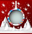winter season with christmas ball banner design vector image