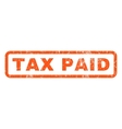Tax Paid Rubber Stamp vector image