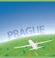 prague flight destination vector image