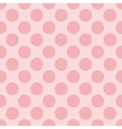 Seamless pastel pattern with baby pink polka dots vector image