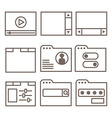 icons of interface screens or software windows vector image