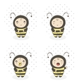 baby bee vector image