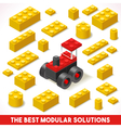 Toy Block Farm 02 Games Isometric vector image