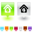 leaf square button vector image vector image