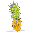 Pineapple drawing vector image