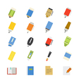 Drawing and Writing Painting Tools Flat Icons vector image