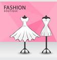 fashion boutique facade clothes shop women vector image