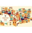 House set Asian city vector image