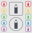 Plastic bottle with drink icon sign Symbols on the vector image